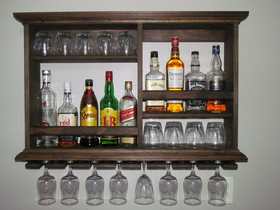 Mini Bar Espresso Stain Liquor Cabinet Wine Rack 3 39 X
