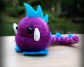 Needle felt toys, Tiny dragon feltee, dragon ball, felties- MADE TO ORDER