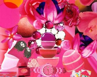 Collage Print - Fuschia Flair