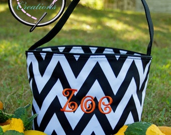 Personalized Halloween Bucket - Trick or Treat Bag -