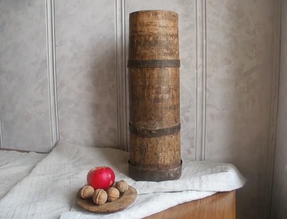 Primitive Antique Country Decor Antique Wooden Vase Large