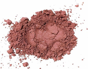 PLUM BERRY Matte Mineral Blush - Titanium Free Cheek Face Color - Gluten Free Vegan Makeup