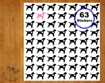 Labrador Retriever Planner Stickers, 63, Labrador Stickers, Retriever Stickers, Labrador Envelope Seals, Labrador Dog Stickers, Labrador