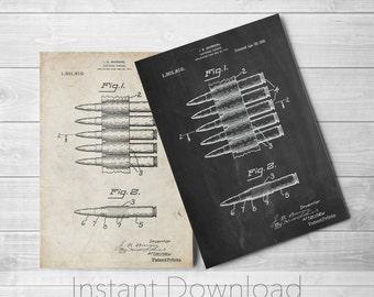 Machine Gun Printables, Bullet Carrier Belt Poster, Gun Enthusiast, Bullet Art, Antique Gun, PP0948