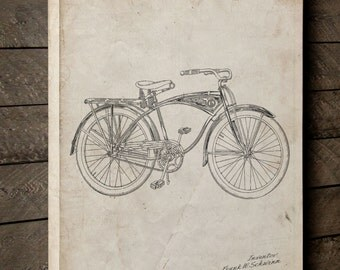 Bicycle Canvas Art, Bicycle Wall Art, Hipster Decor, Cyclist, Canvas Wall Decor, PP0446