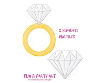 diamond ring clipart diamond clip art invitation art bachelorette party wedding clip - Wedding Ring Clipart