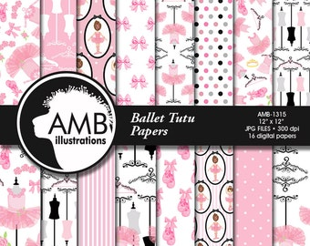 80%OFF Ballet digital papers, Ballerina scrapbook papers, Ballet scrapbooking paper, Ballet Recital, Ballet tutus, commercial use, AMB-1315