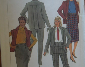 Simplicity 7043, size 16, misses, womens, UNCUT sewing pattern, craft supplies, separates, skirts, pants, jacket, vest