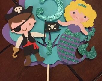 Mermaids & Pirates Cake topper