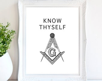 "Know Thyself 8""x10"" Instant Download Digital Print"