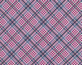 Shelburne Falls Complex Plaid - Lilac by Denyse Schmidt for Free Spirit Fabrics, 1/2 yard, PWDS042.Lilac