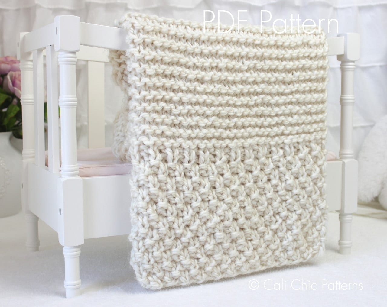 Beginner Knitting PATTERN 102 - Buttercream - Baby Afghan Pattern - EASY - 2 ...