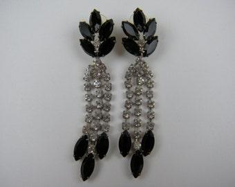Long and Lovely Rhinestone Earrings