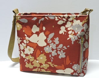 Canvas Conceal Carry Purse/Handbag/Tote/CCW/Autumn Winter Pattern