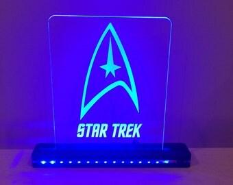 Star Trek Edge Lighted Laser Cut LED Acrylic Sign