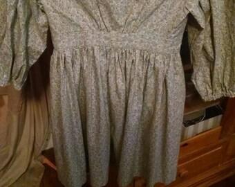 Free shipping...Girls civil war Victorian prairie dress. Size 6