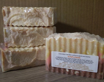 Sunflower - Organic Goat Milk Triple Butter Soap Bar - 5-6oz. Each