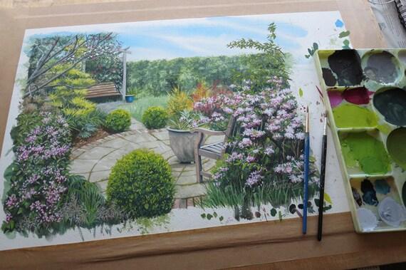 Garden Portraits - original watercolour painting
