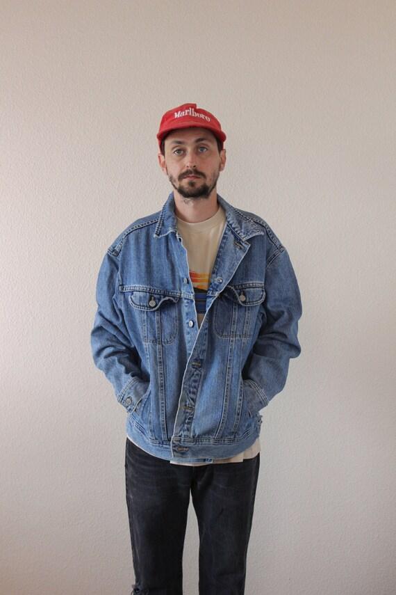 Lee Denim Light Wash Jacket Mens Oversized Large