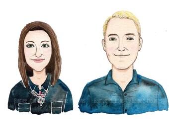 watercolor portrait, custom portrait, custom illustration.Custom Illustrations, A custom watercolor portrait .