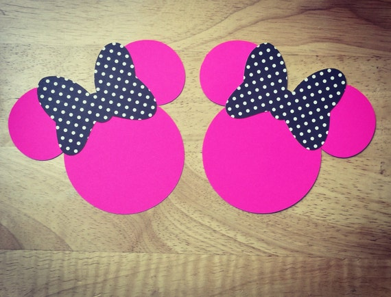 Minnie Mouse Cut outs fromDimenchonsDesigns @Etsy