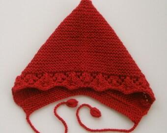 Pixie Hat,Bonnet,Christmas Pixie Hat,Toddler Hat