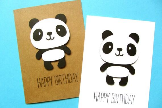 Panda Birthday Card Kid Birthday Card Cute Birthday Card – Cute Birthday Cards for Kids