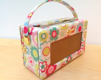 Cath Kidston Customised Roberts Radio DAB RD60 - Electric Flowers Oilcloth