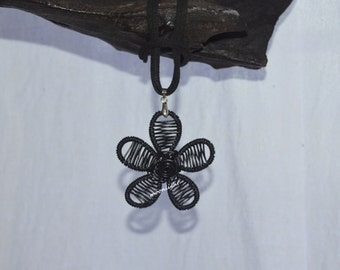 Flower Wire Wrapped Pendant