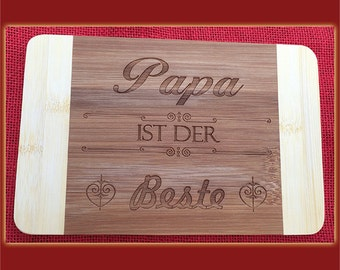 Dad is the best breakfast Board with engraving