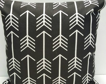 MODERN! Black and White Premier Prints Arrow Indoor Decorative Throw Accent Pillow Cover with Hidden Zipper