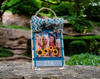 Zeta Tau Alpha Beadboard Frame Ornament