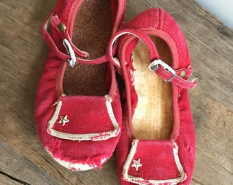 Vintage Red Baby Shoes Pair