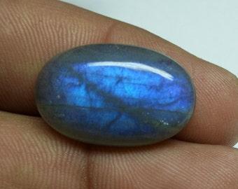 Labradorite Loose Cabochon / Blue Flashy Labradorite 23x15x6 mm / Smooth labradorite Oval Cabochon