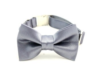 Dog Collar With Bowtie. Dog bowtie. Weddings for dogs. Pet collar. Dog Bowtie. Pet accessories. Satin bowtie.