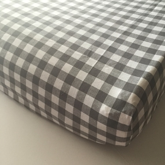 Gingham Fitted Crib Sheet Buffalo Plaid Baby Or Toddler Bed