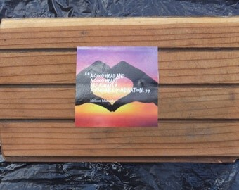 Repurposed Canadian Red Western Cedar, with Inspirational Quotes