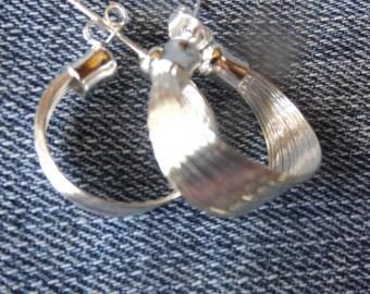Sterling Silver Multi Layered Hoop Earrings