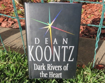 Hollow Book Safe 'Dark Rivers of the Heart' Dean Koontz - Handmade, Secret Storage, Valuables, Letters