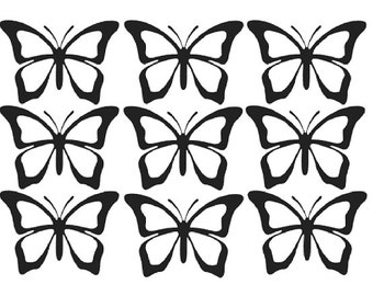 10 butterfly vinyl stickers - butterfly decals - vinyl wall decal - nursery wall stickers - Vinyl decal - vinyl wall stickers