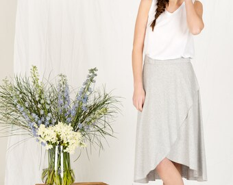 SALE!! Organic cotton jersy knit wrap skirt