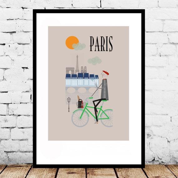Design Paris Impression A4 A3 A2 Affiche Murale Art D Co Fun