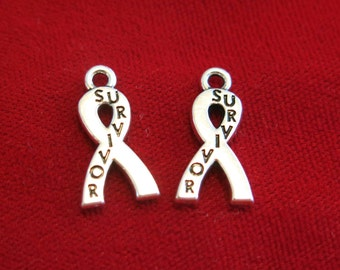 """10pc """"survivor"""" charms in antique silver style (BC856)"""