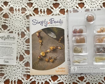Simply Beads Kit-of-the-month Amber Splendor Necklace and Earring Set