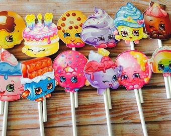 shopkins cupcake toppers, shopkins 12 cupcake toppers, shopkin toppers