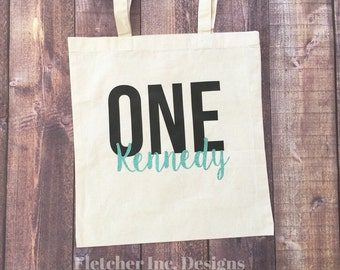 Birth Tote Godt Bag, Customize Eith Age & Name.