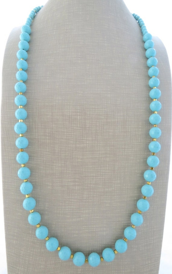 Turquoise necklace long necklace beaded necklace summer