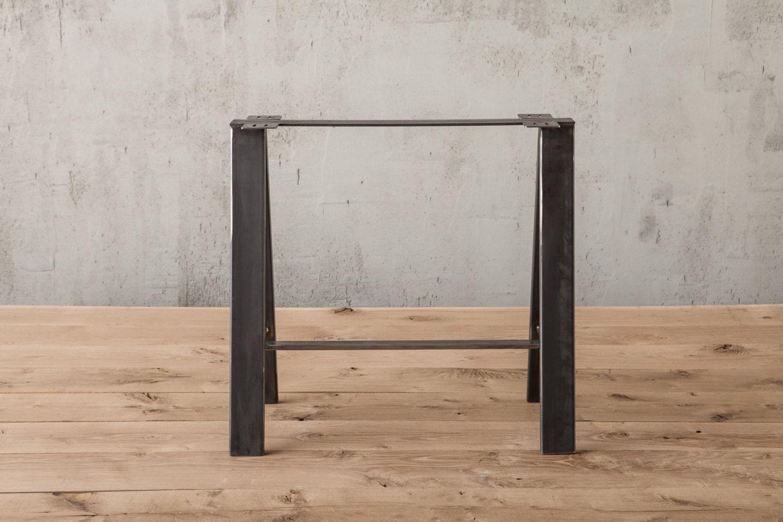 Saw Horse Table Leg Metal Table Legs Rustic Industrial Pair