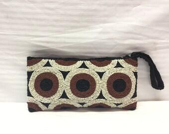 Beaded Clutch, Beaded purse,Bags, Purses, Wristlet, Boho Bag
