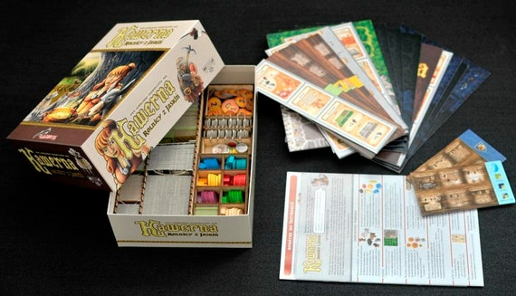 Caverna board game wood insert to store all by for Board game storage solutions